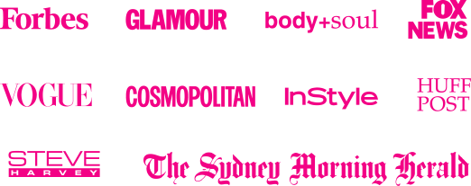 Group of pink logos